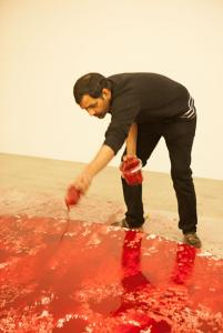 Imran Qureshi in his Berlin studio. Photo: Ronald Dick