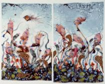 Wangechi Mutu, Funkalicious fruit field, 2007. Collection of Glenn Scott Wright, London. Courtesy of Victoria Miro Gallery, London. © Wangechi Mutu.