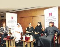 Ebtisam Abdulaziz (second from right) in a discussion at the Abu Dhabi Art Fair 2010
