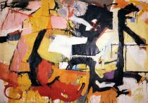 Audrey Flack, Abstract Force: Homage to Franz Kline, 1951-52, © Audrey Flack