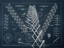 Richard Buckminster Fuller, TENSILE-INTEGRITY STRUCTURES-TENSE GRITY, from the series �Inventions: Twelve around one�, 1981, Deutsche Bank Collection