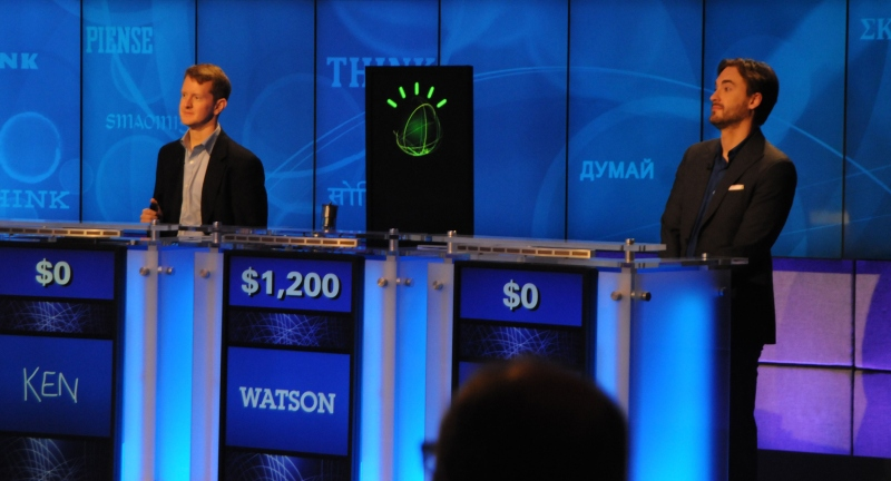 IBM Watson on Jeopardy!, 2011. Image courtesy IBM