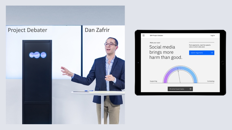 IBM Project Debater, 2018. Image courtesy IBM
