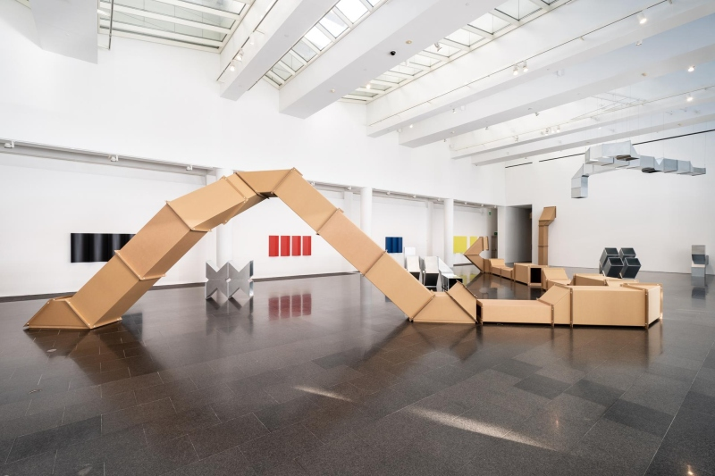 Charlotte Posenenske: Work in Progress, exhibition view, MACBA Barcelona. Photo: Miquel Coll