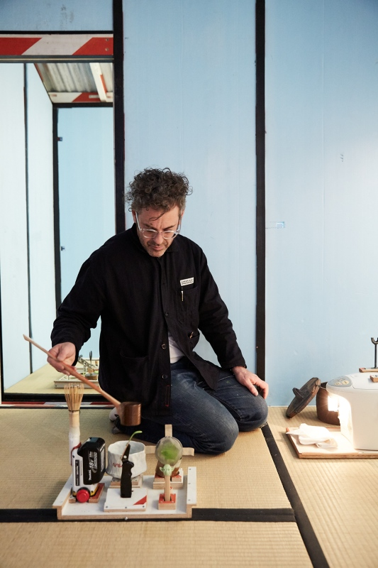Tom Sachs: Tea Ceremony, exhibition view, The Noguchi Museum, New Yorl, 2016. Photo: Studio Tom Sachs, © Tom Sachs