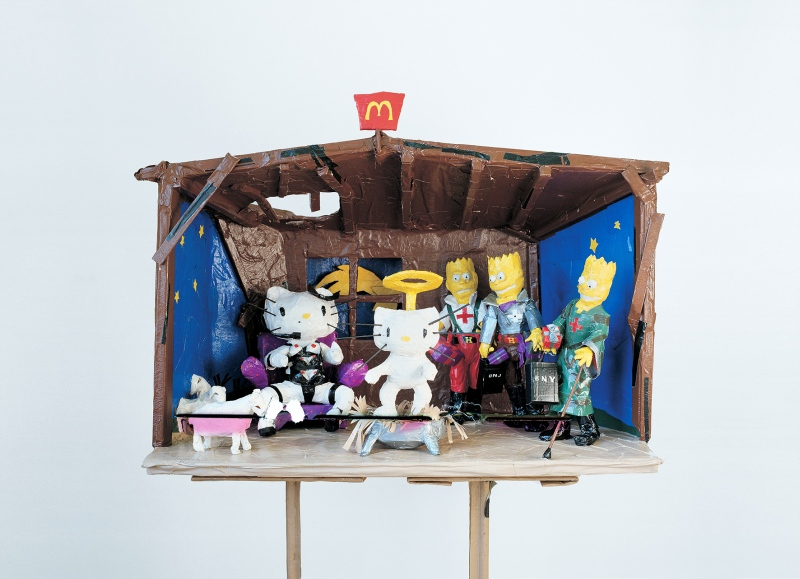 Tom Sachs, Hello Kitty Nativity, 1994, Photo: Studio Tom Sachs, © Tom Sachs
