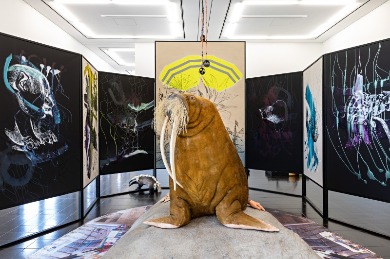 Helga Schmidhuber, ARCHE endemisch (detail), 2020. Installation view, Hamburger Kunsthalle, 2020. © Courtesy the artist / VG Bild-Kunst, Bonn 2020. Photo: Fred Dott