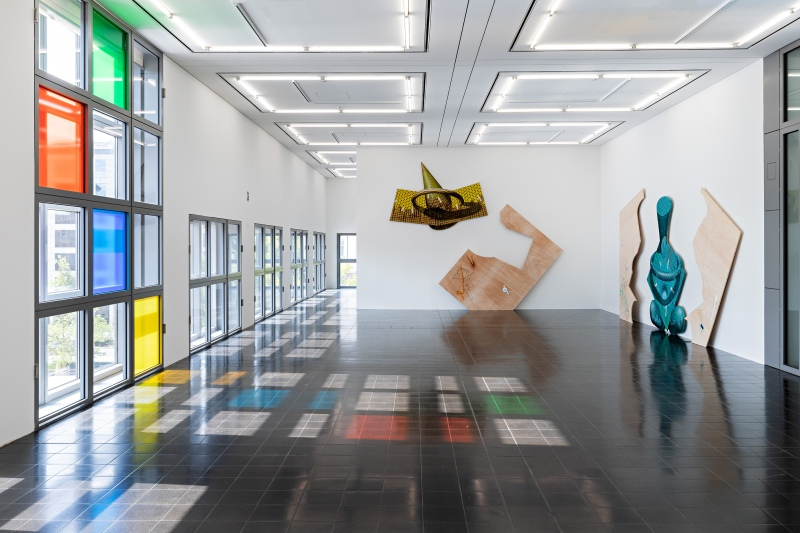 Works by Dominik Halmer, installation view, Hamburger Kunsthalle, 2020. © Courtesy the artist / VG Bild-Kunst, Bonn 2020. Photo: Fred Dott